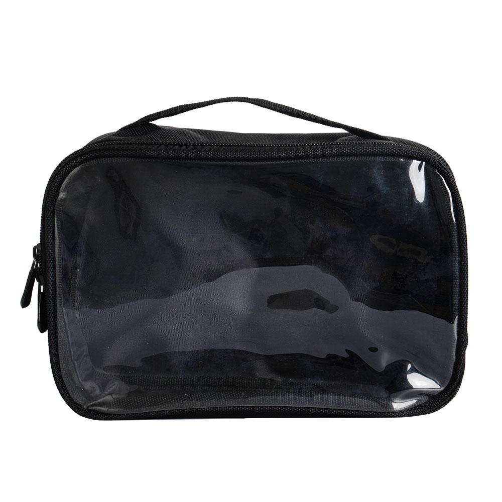 One Side Nylon Custom PVC Transparent Hand Bag Series 8 Colors Option Makeup Bag