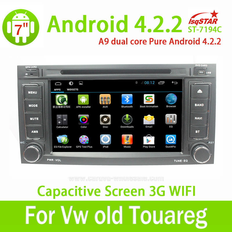 Wholesale Capacitive Screen 3G Wifi for VW Touareg 2002-2012 pure Android 4.2.2 Car Dvd with Gps navigation