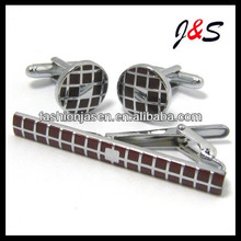 FASHION cufflinks and tie PIN set engraved
