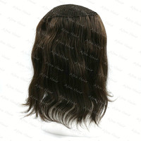 Remy Hair Women Toupee Queen Hair Toupe Uomo Brown Long Length 14 Inches Fishnet Lace H055