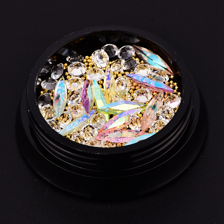 Alibaba Best Seller High Quality Wholesale Flatback Acrylic Jewelry Beads Nail Art Alloy Rhinestones for Women's Nail Salon