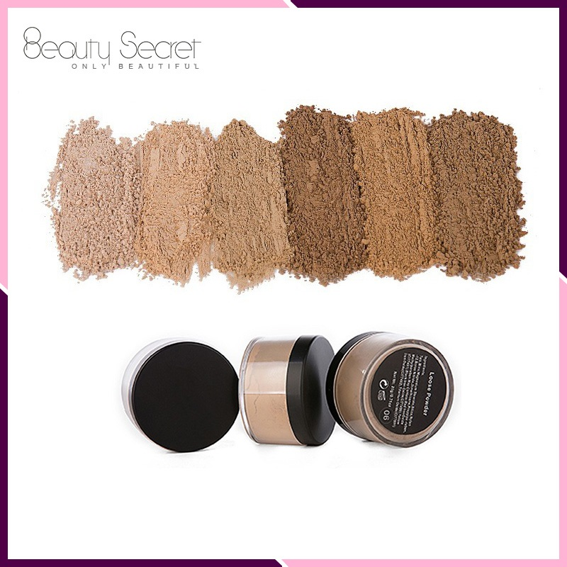 6 colors Private label loose powder container for makeup
