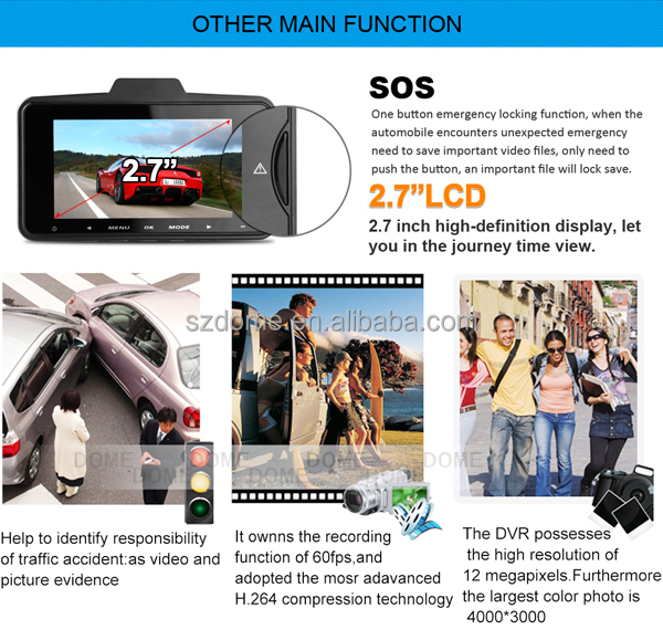 The newest 170 degree wide view angle lens car dvr dash cam 1080p FULL HD car video camera recorder ,car camera with G-sensor