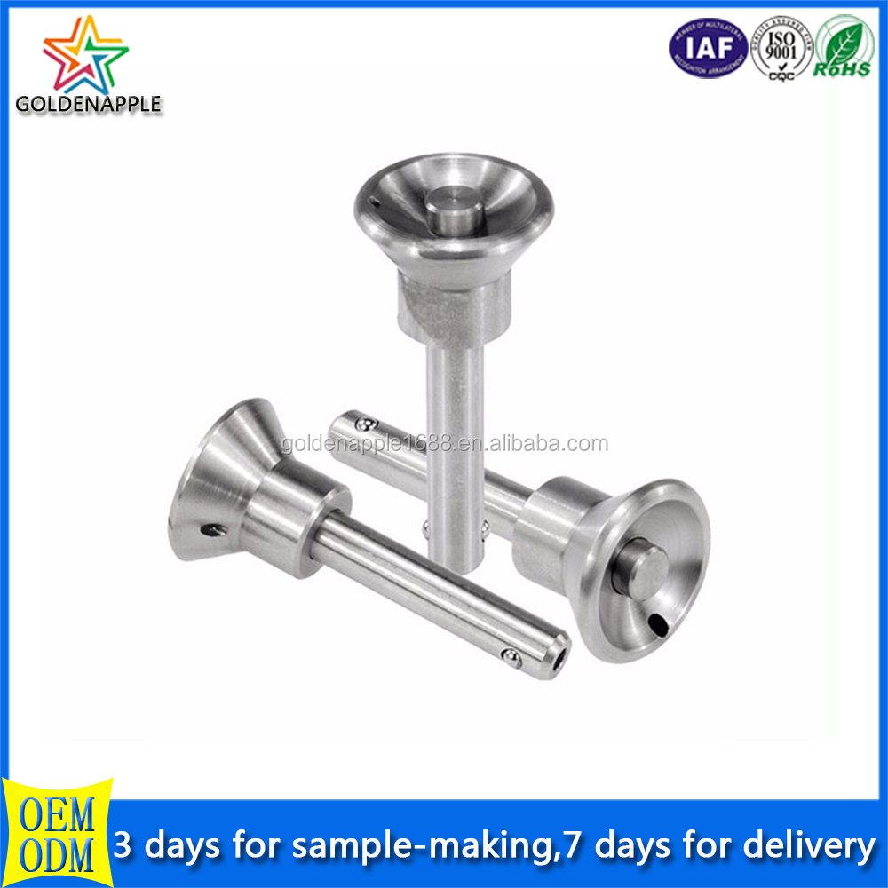 Stainless Steel Ball Lock Button Head Precision Shaft