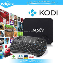 S805 quad core android tv box 1g 8g MXV google tv box kodi fully loaded set top box