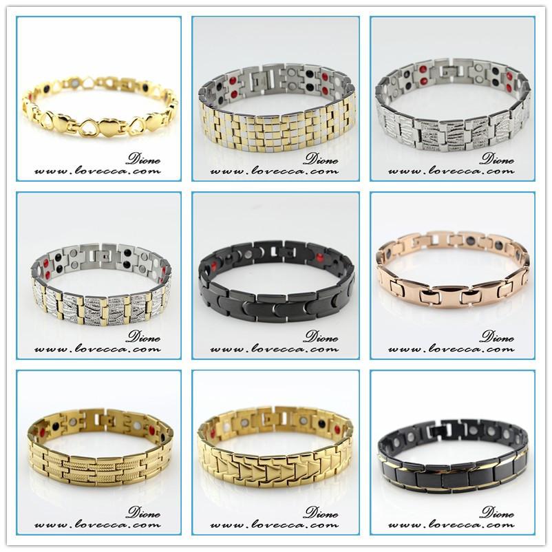 4 in 1 bio elements energy magnetic titanium bracelet with