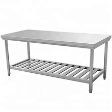 Commercial kitchen stainless steel work table for restaurant project