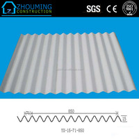 Hot sale profile 850 type galvanized iron sheet with competitive price