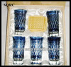 Hand carve colored glass wine gift sets