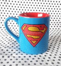 wholesale stoneware mug cup coffee mug customized logo superman design