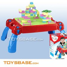 Delux & Multifunctional kids block toy desk