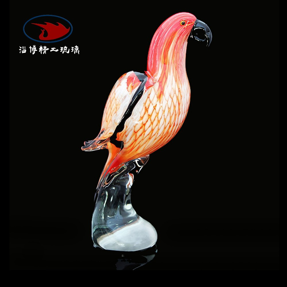 glass bird decoration
