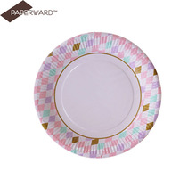 High quality paper plates bulk holiday disposable tableware