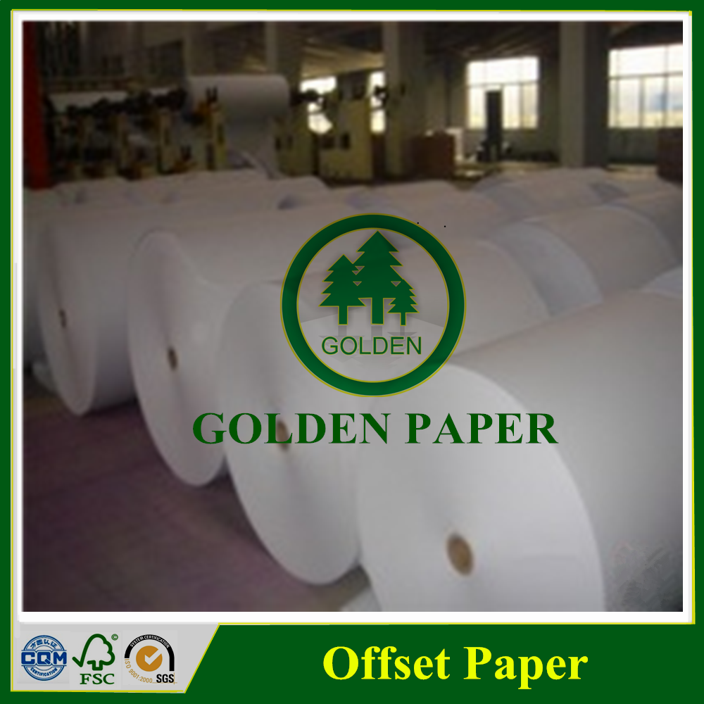 high bulk woodfree offset printed white paper in roll