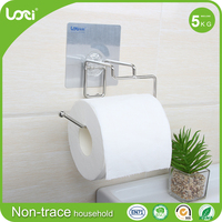 Family preferred free Standing Metal Toilet Paper Holder + Rack for Extra Rolls