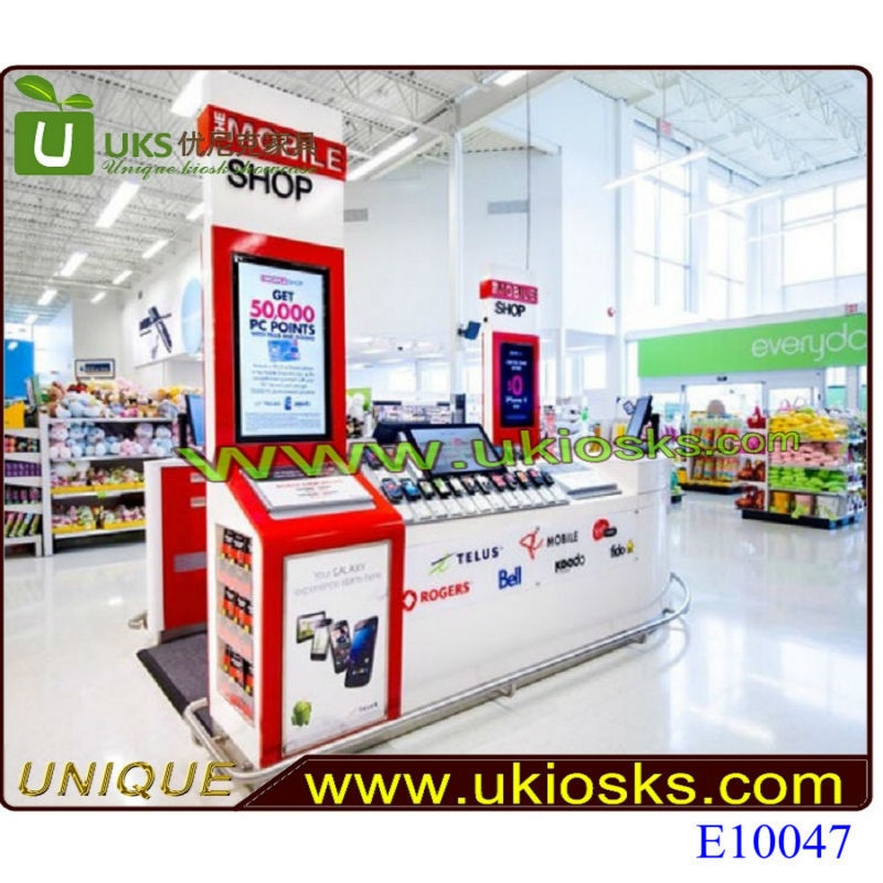 Wooden showcase cell phone accessories showcase, cell phone accesories stands used phone case kiosk for sale