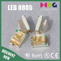 Discount price 1.1T 25mA epistar chip surface mount 0805 yellow green led diode