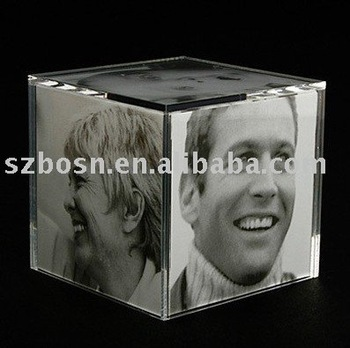Acrylic Picture Frame,Perspex Photo Cube,Lucite Photo Frame