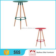 2017 wooden round bar high table