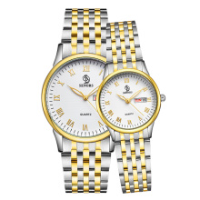 Wholesale high performance super quality fashion unisex solid steel band multifunctional lovers watch with waterproof