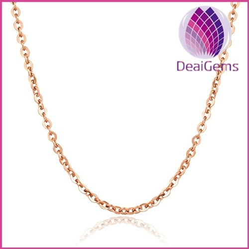 Wholesale 2mm wide rose gold stainless steel 'O' chain