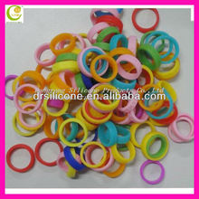 No harm to body non-toxic colorful cheap price silicone rubber kids finger ring