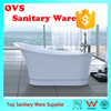Man-made free standing bath tub with white color