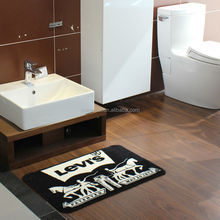 Nylon Bathroom Carpeting Rubber Backed With Logo