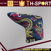 China dragon design golf blade putter headcover