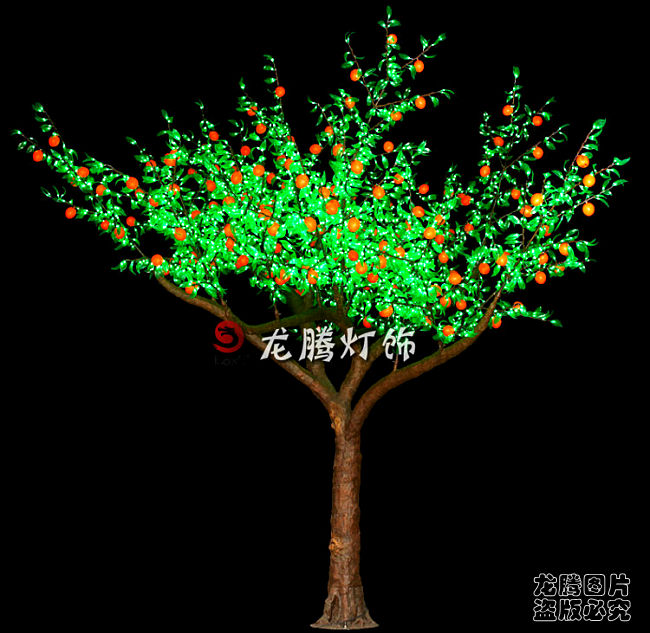 4m outdoor projection Indian orange Led fruit tree lamp