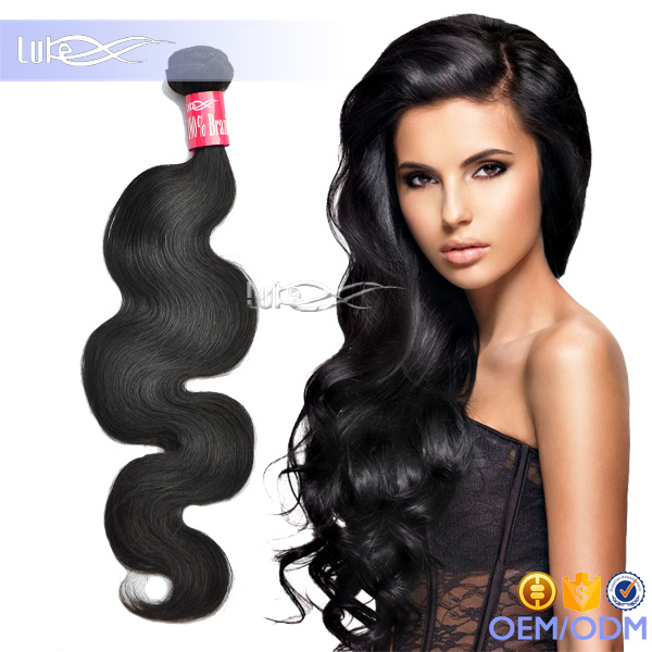 Luke Hair 6A Top Quality Hot Selling Product Natural Color Body Wave Virgin Brazilian Human Hair Weave