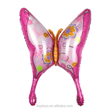 Wholesale swallowtail butterfly baalloons for birthday party decorations aluminum foil balloons
