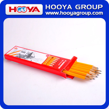 custom wholesale cheap hexagonal wooden HB pencil