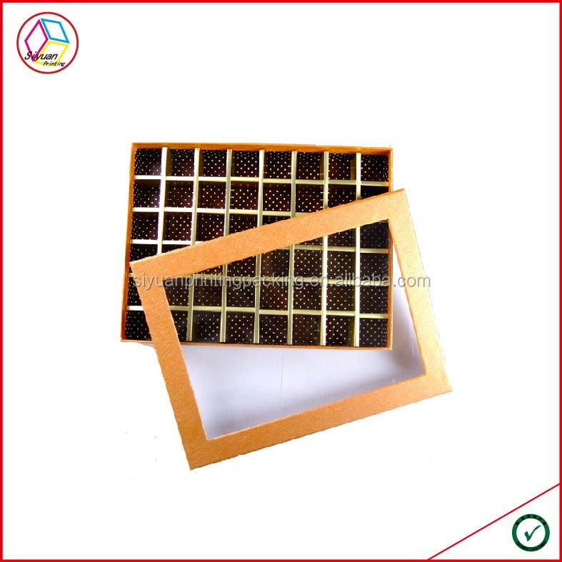High Quality Models Boxes for Chocolates/Packaging for Homemade Chocolate/Chocolate Box With Clear Lid