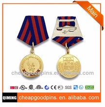 new products lapel pins ribbon military medal with ribbon cheap price no MOq free artwork china supplier
