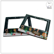 Wallet Size Clear Glossy Epoxy Resin Acrylic 3D Fridge Magnet Photo Frame