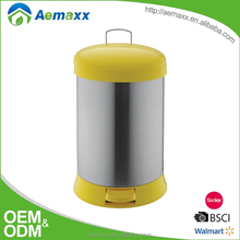 hotselling matte finish airtight trash can for living room with soft close cover