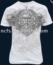 Hot! 2012 Discharge Printing Fashion mens 100% cotton mens t-shirts