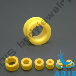 acrylic yellow ear flesh tunnel,ear studs piercings