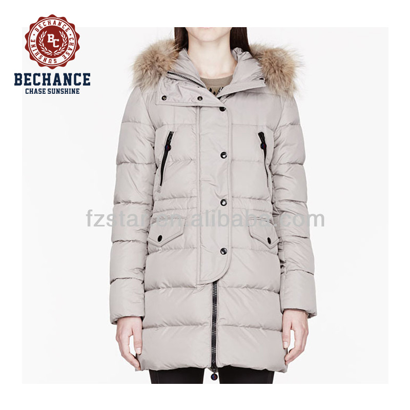 Cold Weather Down Hooded Jacket For Women