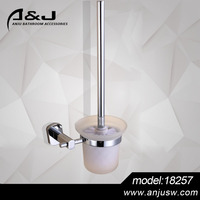 Decorative Wall mounted chrome plated toilet brush holder,high quality bathroom fittings toilet brush holder