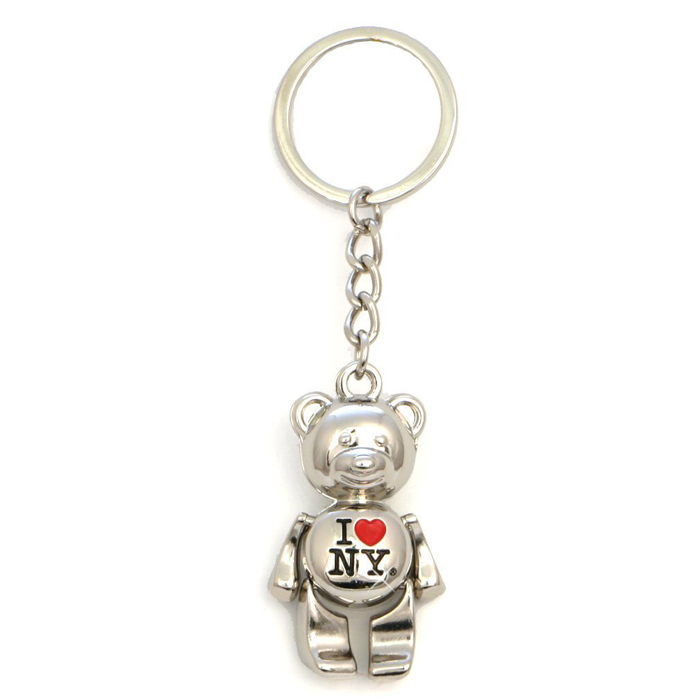 New York Keychain - I Love New York Bear, New York Keychains, New York City Souvenirs