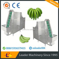Leaderbrand upgrade large production high efficiency banana processing machine/ green banana peeling on sale