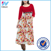 Yihao new design Women long sleeve pakistan maxi design Rayon Dress 2015