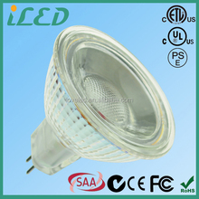 Narrow Beam Spotlight 350-400lm 2 pin GU5.3 Lamp Base COB 5W LED MR16 12V for Showcase
