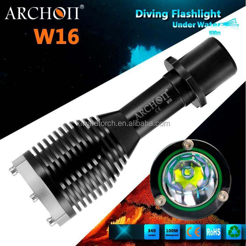 2015 high waterproof and antiwear XP-G R5 LED diving light or scuba diving torch W16