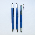 6 In 1 Multifunction Tool Pen with Double Head Screwdriver,Ruler, Level ,Touch Stylus And Ballpoint Pen