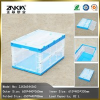warehouse use solid box style transparent plastic crates and container,box