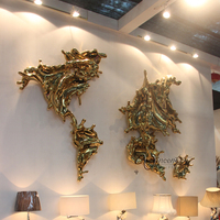 designer home decor stainless steel world map metal wall art