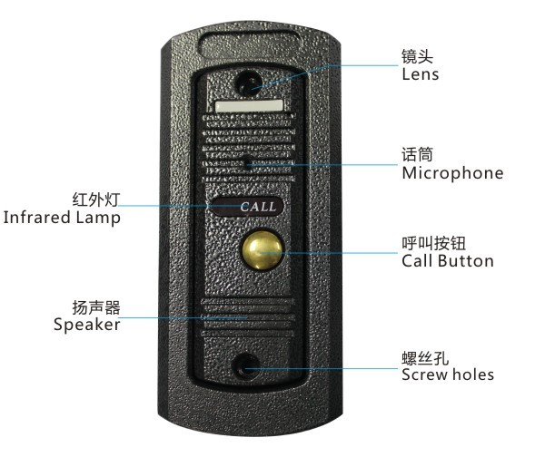 ACTOP 4 wire video doorbell hide camera for apartment support 4 CCTV